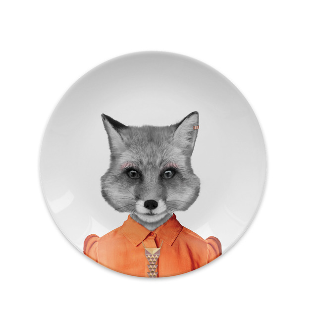 Wild Dining: Ceramic Dinner Plate - Baby Fox (18cm)