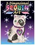 3D Sequin Art - Cat