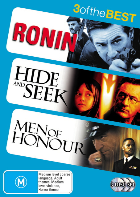 Ronin / Hide And Seek / Men Of Honour - 3 Of The Best (3 Disc Set) on DVD image