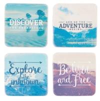 Wanderlust Adventure Coasters (Set of 4)