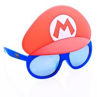 Sunstaches: Lil' Characters Sunglasses - Super Mario Blue Lens