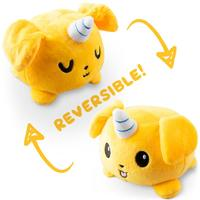 TeeTurtle: Reversible Mini Plush - Puppicorn (Yellow)