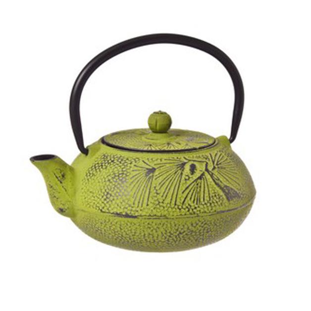 Green Pandanus Tree Cast Iron Teapot (600ml)