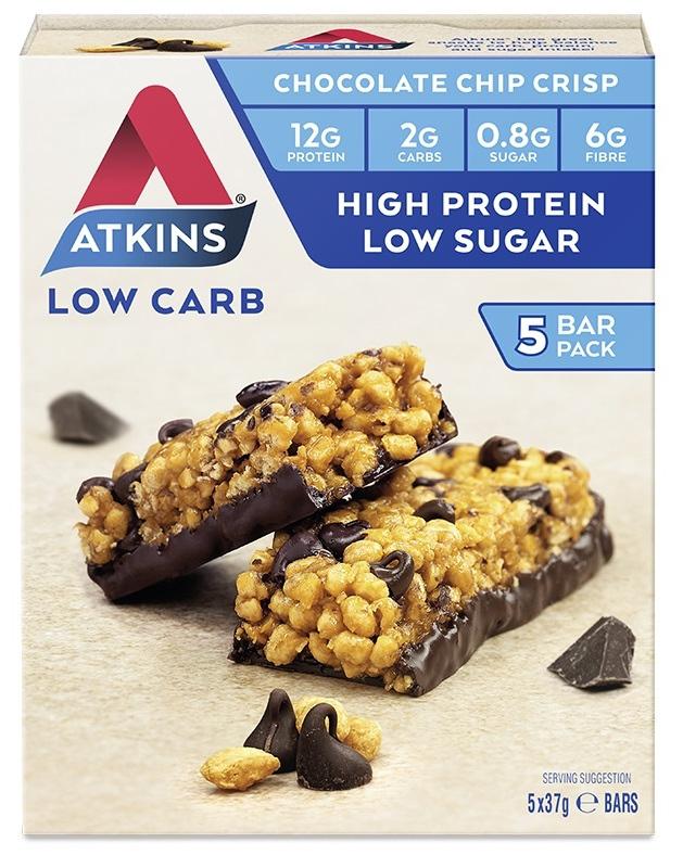 Atkins Day Break Bars - Chocolate Chip Crisp (Box of 5) image