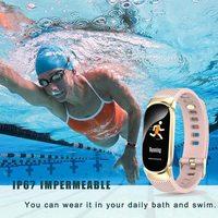 Waterproof Bluetooth Fitness Tracker - Pink image