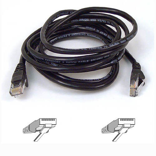 Belkin 1m Black CAT5e Snagless Patch Cable