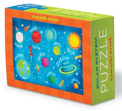 Crocodile Creek: Mini Puzzle Solar System - 100pc image