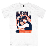 Star Wars Han Solo Mens Tee - White S