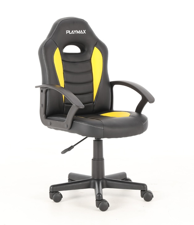 Playmax Kids Gaming Chair - Yellow and Black for