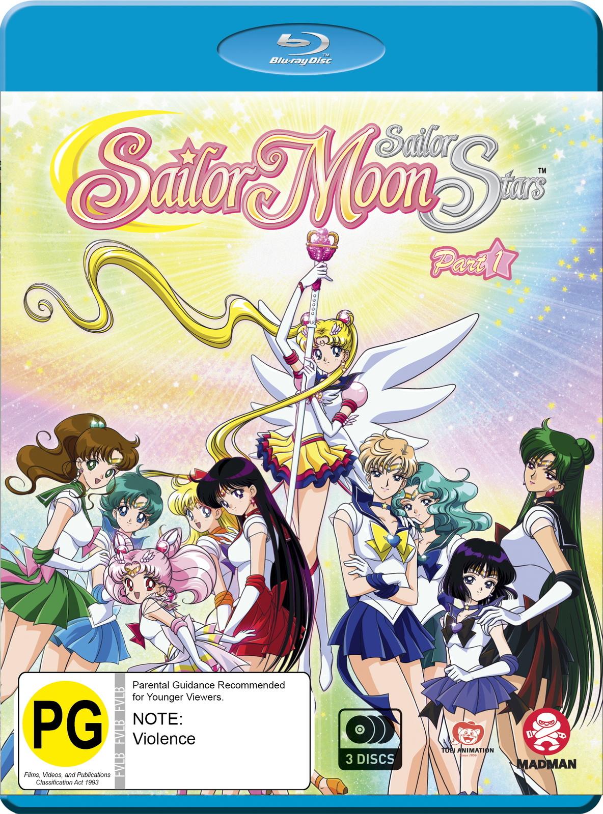 Sailor Moon: Sailor Stars - Season 5 /Part 1 - (Eps 167-183) on Blu-ray image