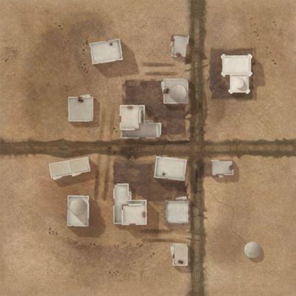 "TANKS: Italian Desert El Alamein Game Mat (36"" x 36"")"