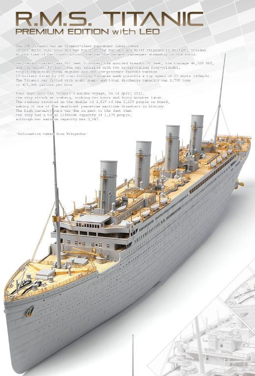 Academy 1/400 Titanic LED Premium Model Kit