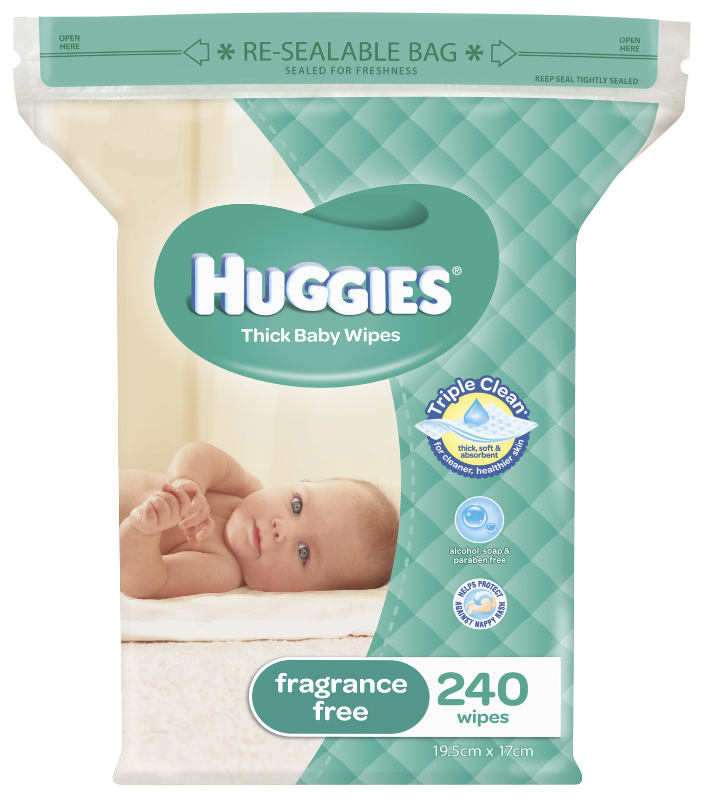 Huggies Unscented Wipes - Jumbo Pack (240) image