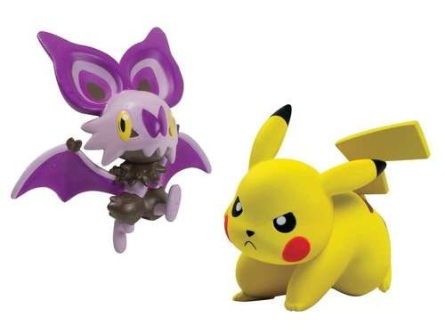 Pokémon: Action Pose Pikachu vs. Noibat - Figure 2-Pack image
