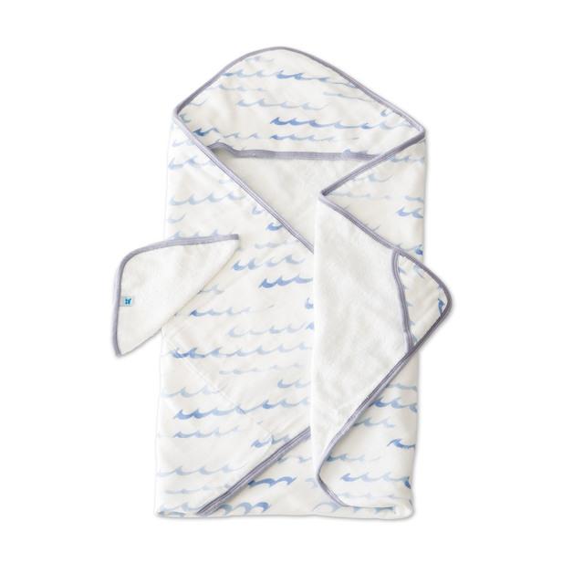 Little Unicorn - Hooded Towel & Wash Cloth - High Tide