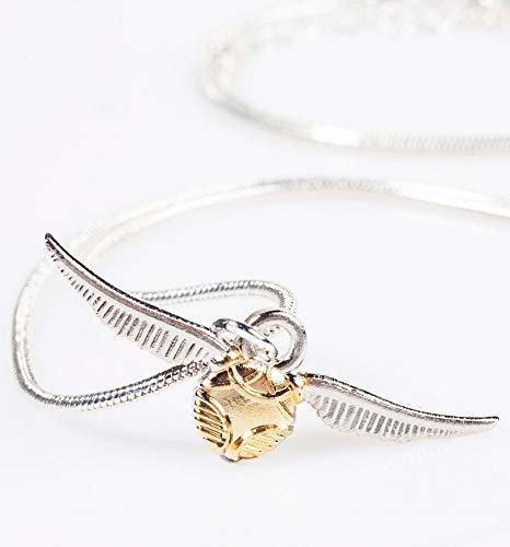Harry Potter: Golden Snitch Necklace And Stud Earring Set - Gold image