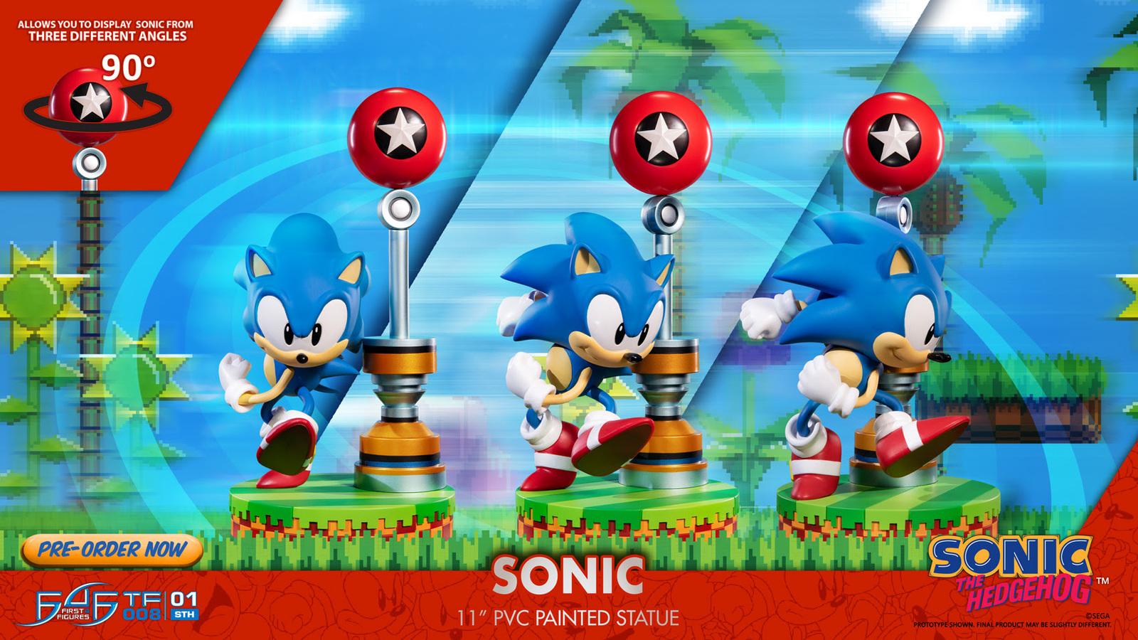 "Sonic the Hedgehog - 11"" PVC Statue image"