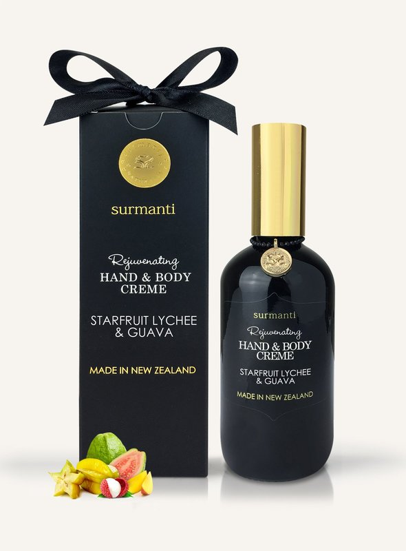 Surmanti Hand + Body Creme - Starfruit, Lychee & Guava (120ml)