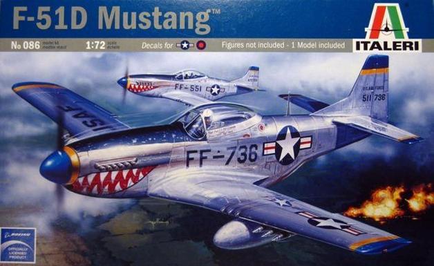Italeri F-51D Mustang 1:72 Model Kit