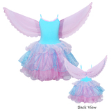Pink Poppy: Flamingo Dress with Wings (Size 3/4) - Blue