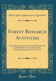Forest Research Activities by United States Department of Agriculture image