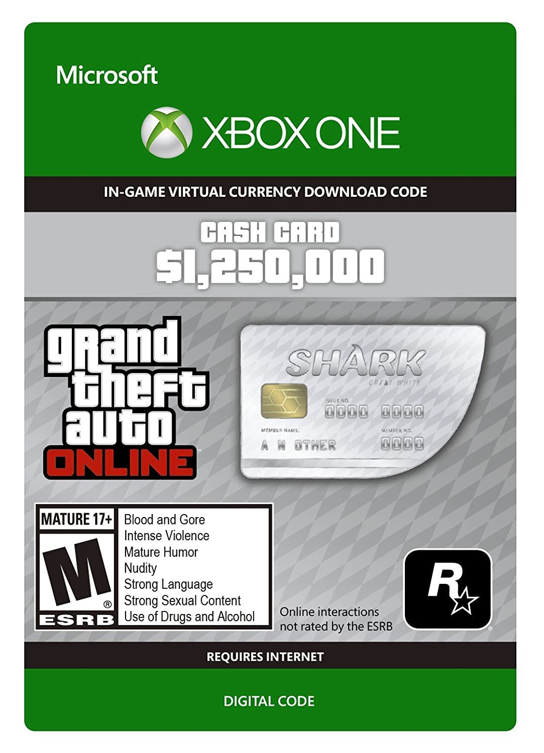 Grand Theft Auto V: Great White Shark Cash Card for Xbox One (Digital Code) for Xbox One image
