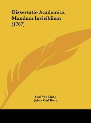 Dissertatio Academica Mundum Invisibilem (1767) by Carl von Linne image