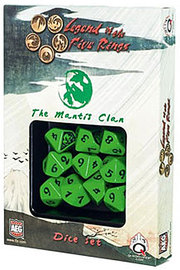 Legend of the 5 Rings Dice Set - Mantis Clan