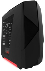 NZXT Noctis 450 Mid Tower Gaming Case - Black/Red