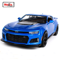 Maisto Special Edition: 1:24 Die-cast Vehicle - 2017 Camaro ZL1 Blue