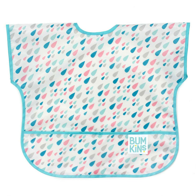 Bumkins: Waterproof Junior Bib - Raindrops