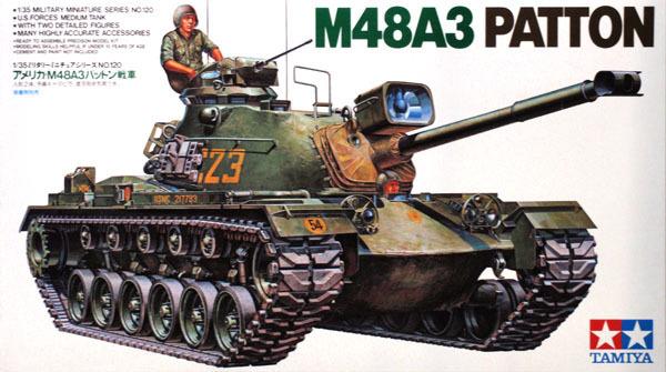 Tamiya U.S. M48A3 Patton Tank 1/35 Model Kit image