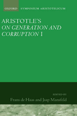 Aristotle's On Generation and Corruption I Book 1
