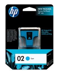 HP 02 Ink Cartridge C8771WA (Cyan) image