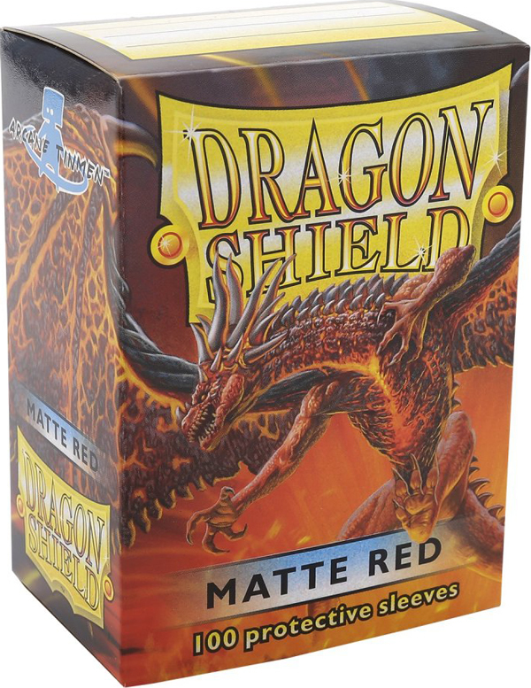Dragon Shield Matte Red Card Sleeves image