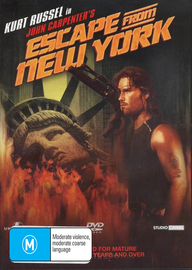 Escape from New York on DVD image