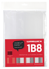 Warwick: 1B8 - Slip-On Book Cover (5-Pack)