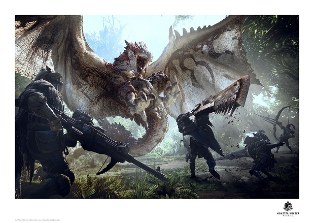 Monster Hunter: World - Premium Art Print - Rathalos image