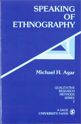 Speaking of Ethnography by Michael H. Agar image