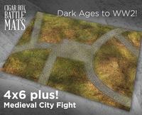 Cigar Box Mat: Medieval City (6x4 Plus)