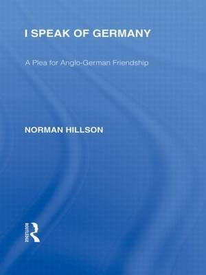 I Speak of Germany by Norman Hillson image