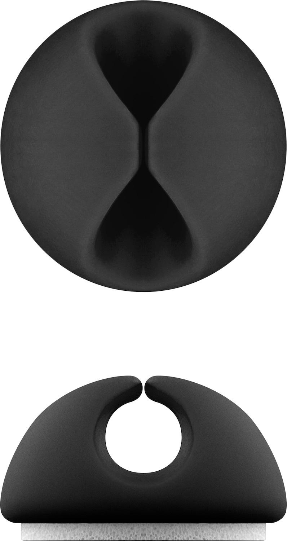Goobay: Cable Management - Five Piece Set (Black) image