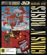 Guns N' Roses Appetite For Democracy 3D: Live At The Hard Rock Casino - Las Vegas on Blu-ray, 3D Blu-ray