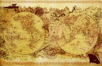 World Map - Vintage Collage Wall Poster (404)