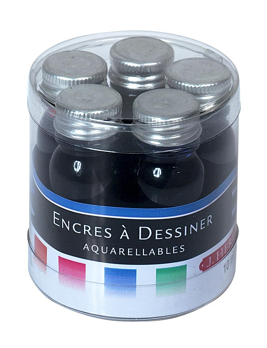J Herbin: Inks Sampler - Watercolored (5 Pack) image