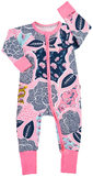 Bonds Zip Wondersuit Long Sleeve - Orient Cool (3-6 Months)