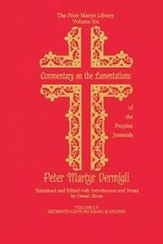 Commentary on the Lamentations of the Prophet Jeremiah by Peter Martyr Vermigli image