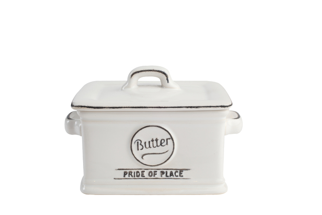 T&G Pride of Place Butter Dish (White)