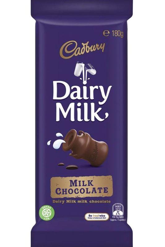 Cadbury Dairy Milk Milk Chocolate (180g)