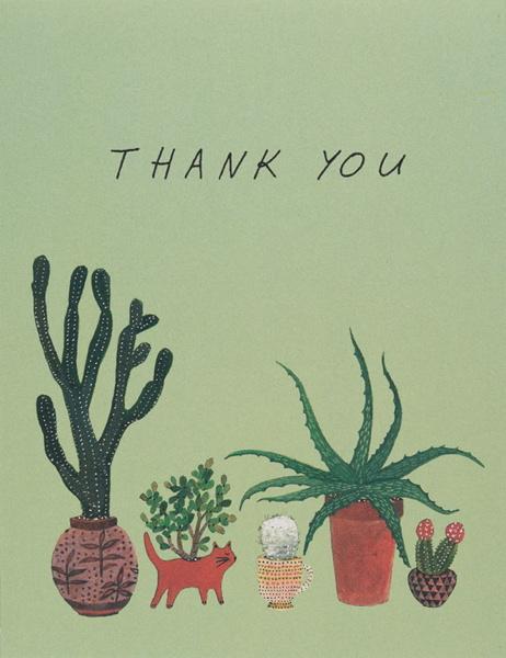 Cactus Thank You Greeting Card